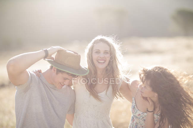 South Africa, Friends having fun, outdoors — Stock Photo