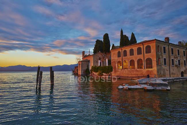 Evening at Lake Garda — Stock Photo