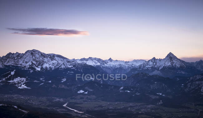 Austria, Salzburg State, View to mountains in the evening — Stock Photo