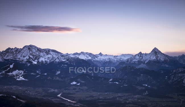 Австрія, Зальцбург держави, видом на гори у вечірній час — стокове фото