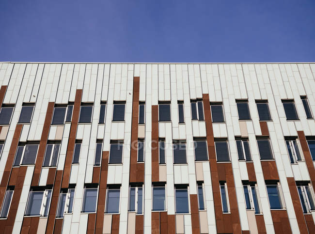 Exterior view of modern office building details at daylight, Hafencity, Hamburg, Germany — Stock Photo