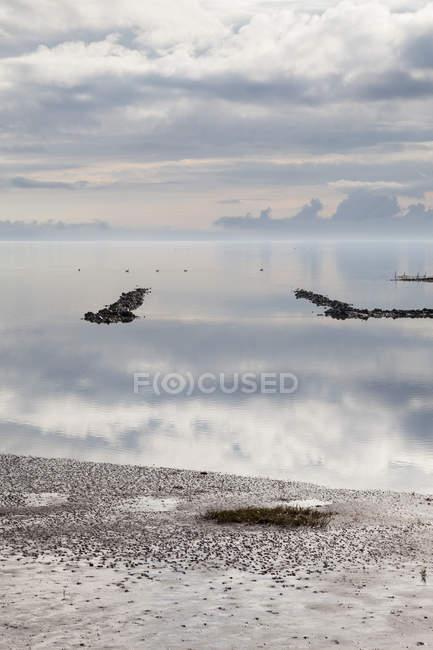 Германия, Wattenmeer Шлезвиг-Гольштейн, Северное море, в дневное время — стоковое фото