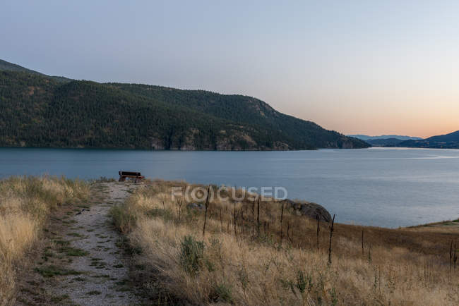 Canada, British Columbia, Okanagan Valley, Kekuli Bay Provincial Park, Kalamalka Lake — Stock Photo
