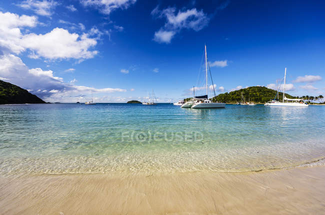 Caraïbes, Antilles, petites Antilles, Grenadines, Mayreau, Twassante Bay — Photo de stock