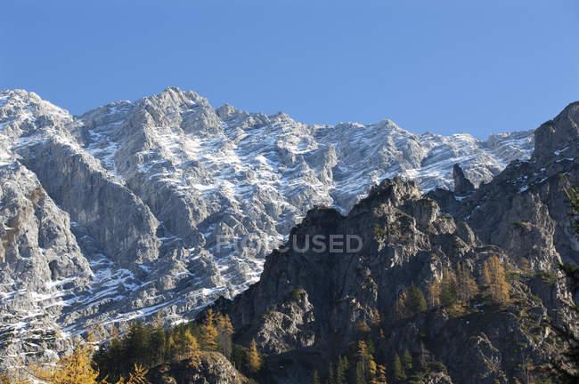 Німеччина, Баварія, Берхтесгаден національного парку, Wimbach долини, Wimbachgries, Watzmann — стокове фото