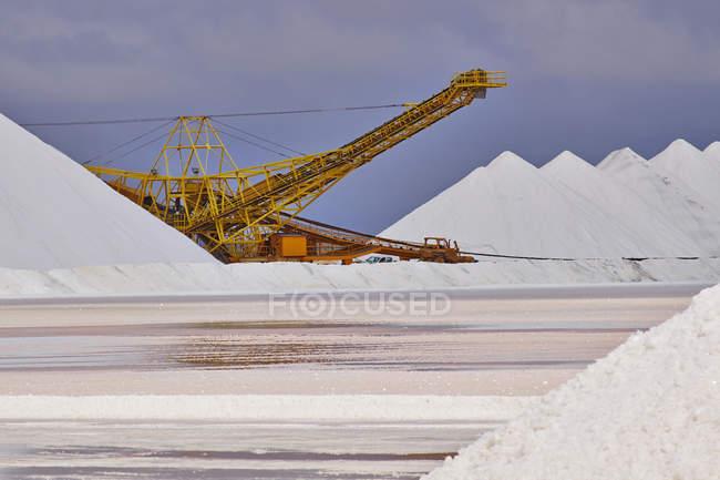 Caraïbes, Antilles néerlandaises, Bonaire, mine de sel pendant la journée — Photo de stock