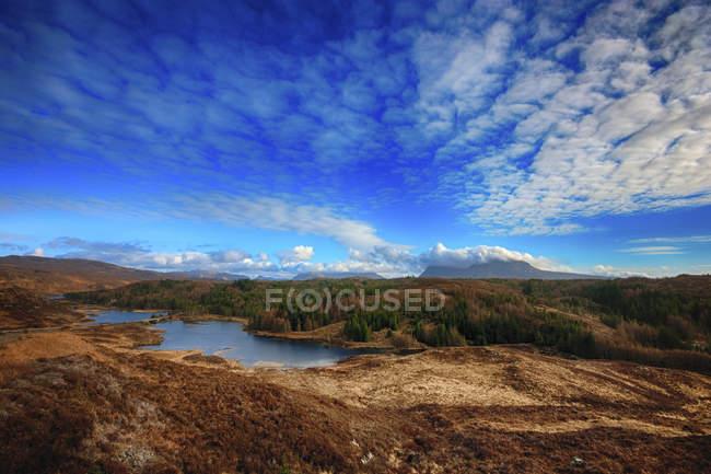 Regno Unito, Scozia, Sutherland, paesaggio con nuvole — Foto stock