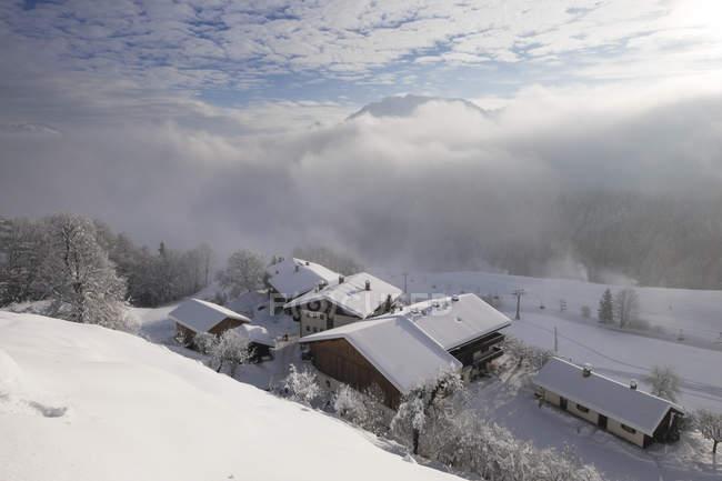 Exibição de Alta Baviera, montanhas de Mangfall, Alemanha, Baviera, para Hocheck, perto de Oberaudorf — Fotografia de Stock