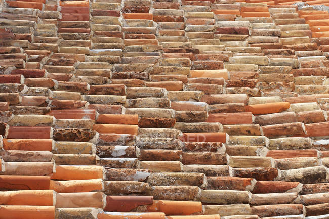 Red Roof tiles, full frame — Stock Photo