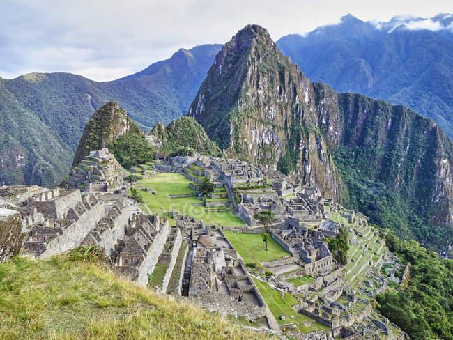 south america peru andes mountains landscape with machu picchu