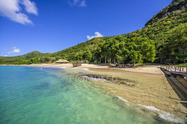 Caraïbes, Antilles, petites Antilles, Grenadines, Union Island, plage — Photo de stock