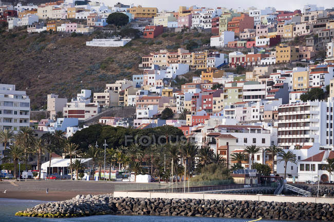 Spain Canary Islands, La Gomera, San Sebastian de La Gomera, townscape — Stock Photo