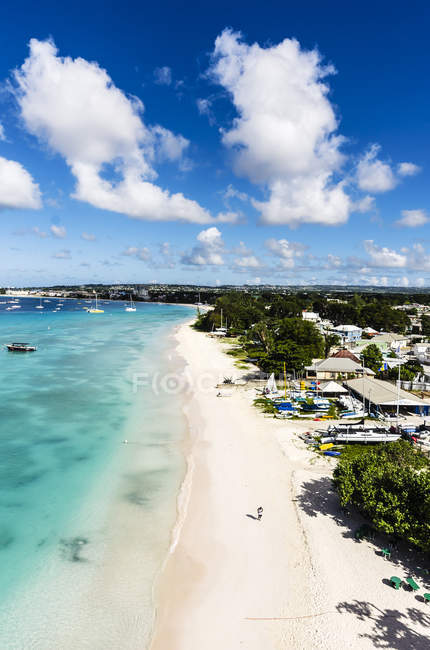 Scenic view of beach near Garrison at daytime, Barbados, Lesser Antilles, Antilles, Caribbean — Stock Photo
