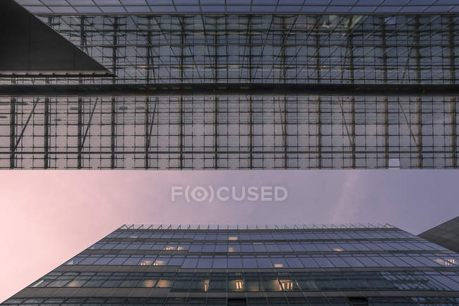 Glass facade and steel Office buildings, Germany, Berlin, Berlin-Mitte — Stock Photo
