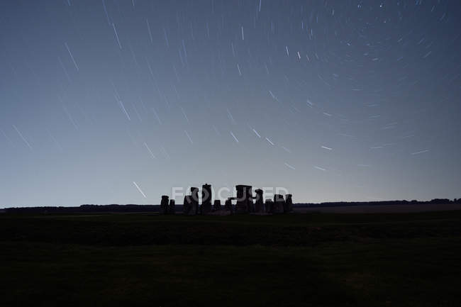 Great Britain, England, Wiltshire, Stonehenge at night — Stock Photo