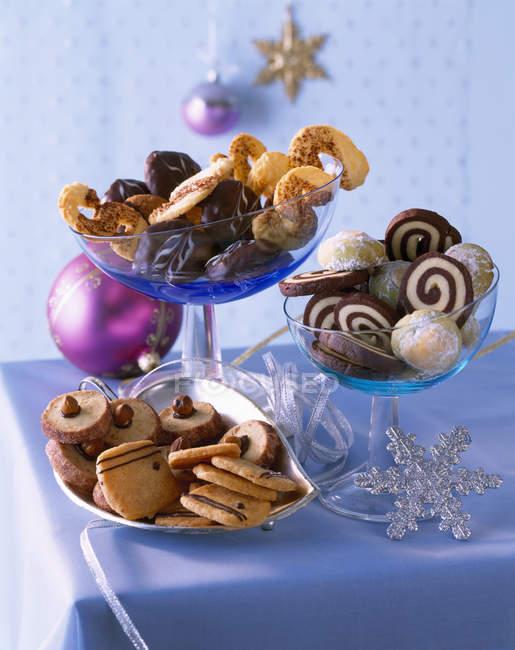 Seleção de vários cookies de Natal — Fotografia de Stock