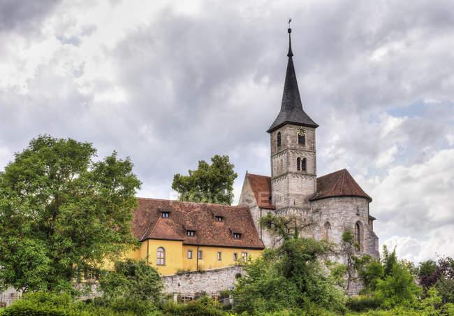 Allemagne, Bavière, Franconie, Franconie centrale, Cloître église Saint-Nikolaus — Photo de stock