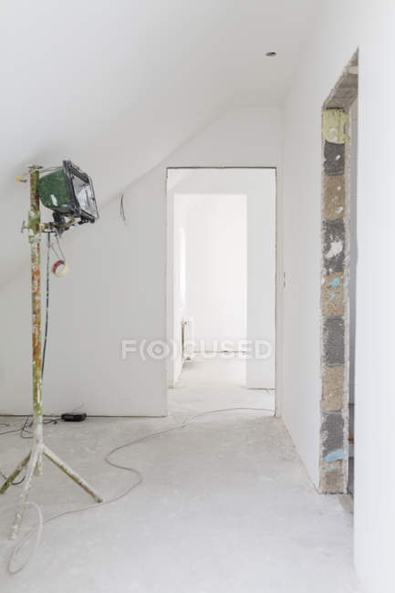 Construction site of apartment in residential house — Stock Photo