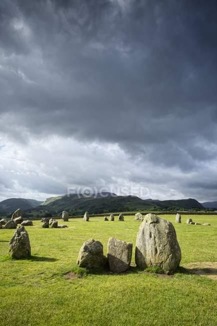 Великобритания, Англия, Камбрия, Озерный округ, Кастельиггский каменный круг — стоковое фото