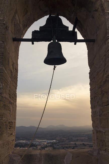Іспанія, Baleares, Майорка, дзвіниця башта Форт Capdepera — стокове фото