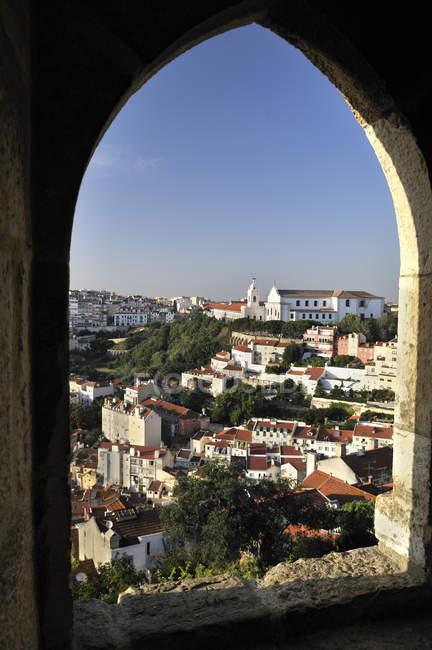 Portugal, Lisboa, paisagem vista do Castelo de São Jorge — Fotografia de Stock