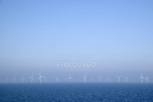 Belgium, West Flanders, Ostende, Zeebruegge, Thorntonbank Wind Farm at the sea — Stock Photo