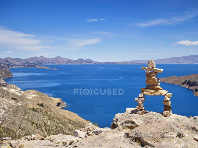 América do Sul, Bolívia, Lago Titicaca, Isla del Sol — Fotografia de Stock