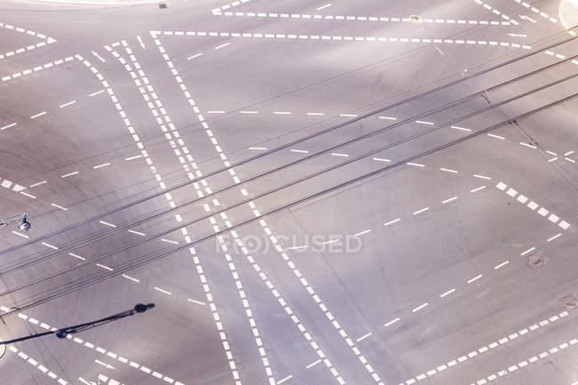 Germany, Berlin, view of crossroads seen from above — Stock Photo