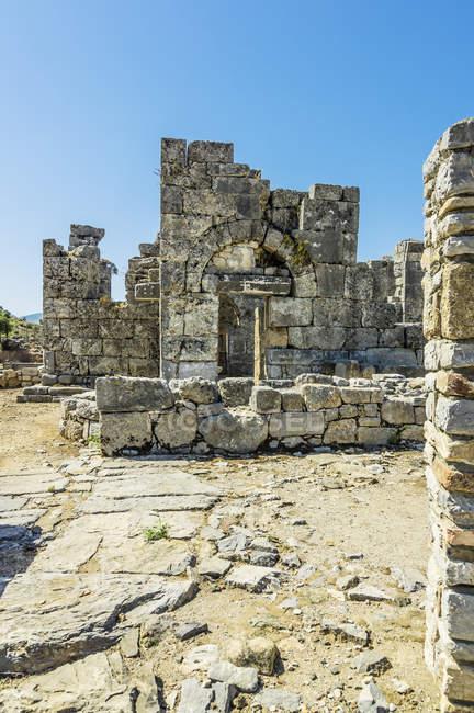 Turkey, Dalyan, ruins of the ancient city Kaunos — Stock Photo