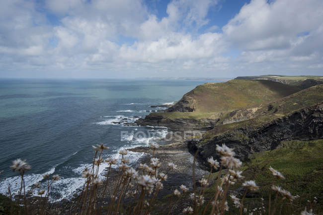 Великобритания, Англия, Корнуолл, Атлантическое побережье, Высокий Клифф — стоковое фото