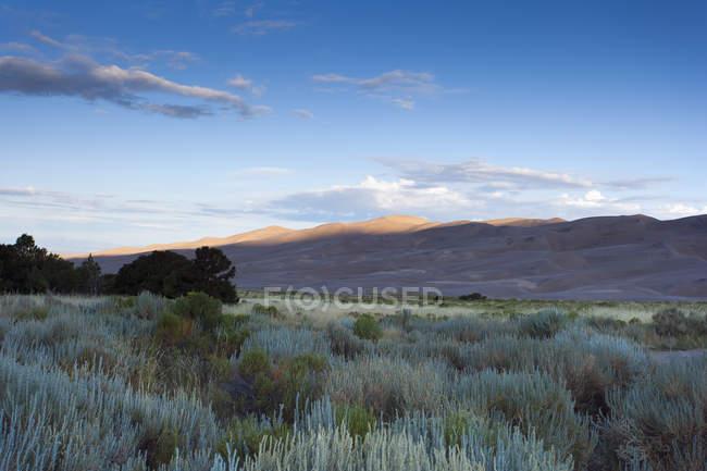 Great Sand Dunes parque nacional e reserva no Colorado, EUA — Fotografia de Stock