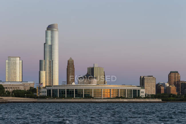 Usa, illinois, Chicago, Aquarium und Michigansee — Stockfoto