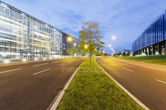 Lussemburgo, Città del Lussemburgo, costruzione della Banca europea per gli investimenti e della Corte di giustizia delle Comunità europee — Foto stock