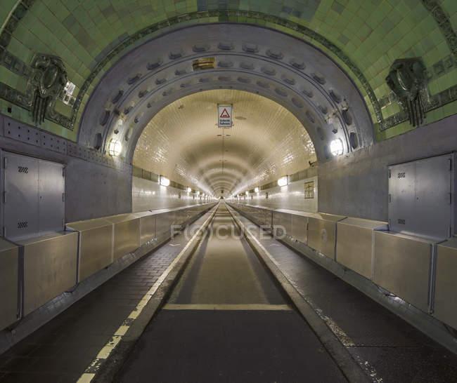 Germany, Hamburg, old Elbe Tunnel indoors — Stock Photo