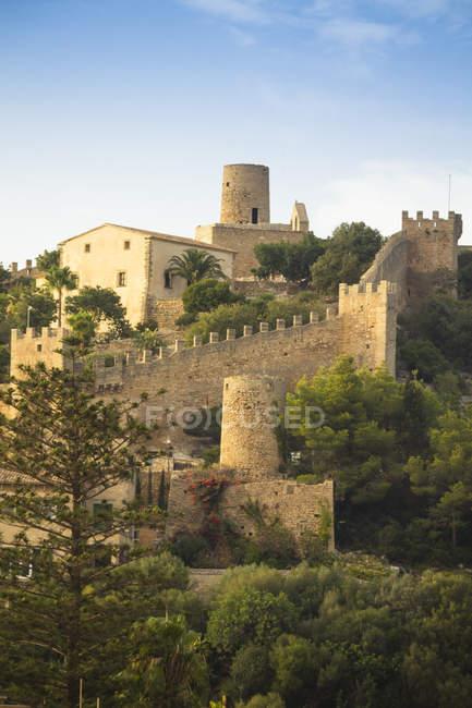 Іспанія, Baleares, Майорка, Capdepera, переглянути Форт — стокове фото