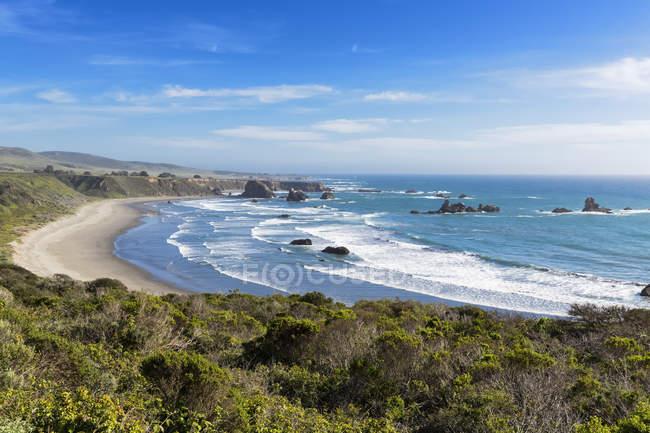 США, Каліфорнія, Big Sur, Тихоокеанського узбережжя, мальовничі національні маловивчена область, пляж — стокове фото