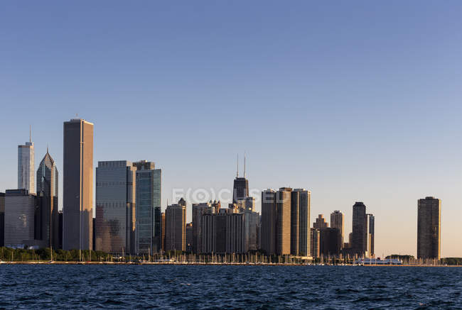 USA, illinois, Chicago Skyline und Michigansee — Stockfoto