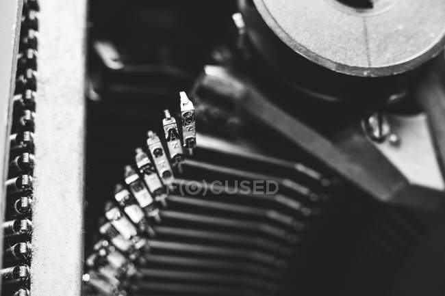 View of Typebars of an old typewriter — Stock Photo