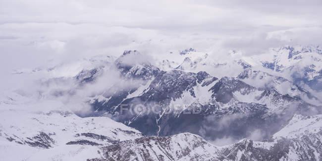 Germany, Bavaria, Allgaeu, Allgaeu Alps, Hoefats in winter — стоковое фото