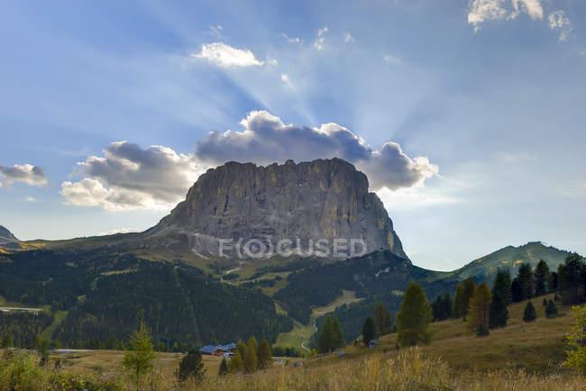 Itália, sul do Tirol, Dolomitas, montanha Langkofel — Fotografia de Stock