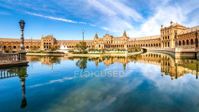 Spain, Andalusia, Seville Province, Malaga, Plaza de Espana — Stock Photo