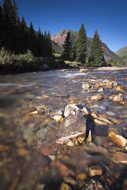 Вид на реку возле Сильвертона в дневное время, Колорадо, США — стоковое фото