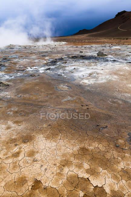 Ісландія, Skutustadir, крапля вулканічна зона, геотермальних області поблизу Myvatn — стокове фото