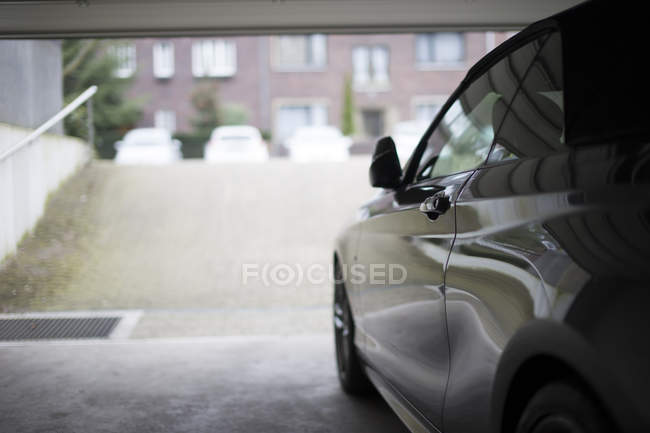 Germany, Car exiting underground car park — Stock Photo