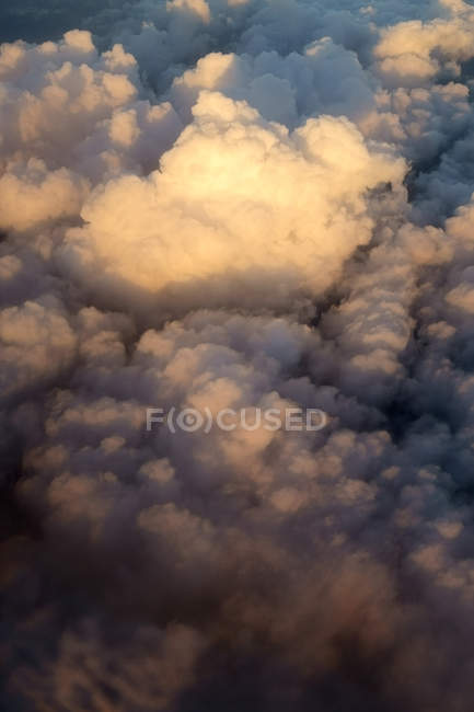 Aerial view, Clouds in the evening at sky — Stock Photo