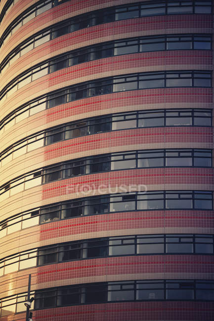 Netherlands, Rotterdam, part of facade of an office building — Stock Photo