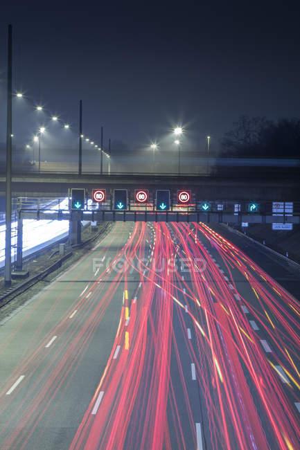 Німеччина, Гамбург, вечірній час пік на автобану — стокове фото