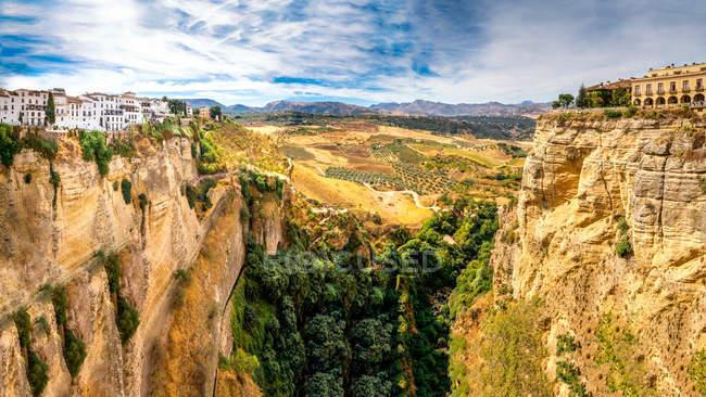 España, Andalucía, Provincia de Malage, Ronda, Panorama - foto de stock