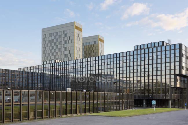 Luxemburgo, ciudad de Luxemburgo, edificio Jean Monnet y Tribunal de Justicia de las Comunidades Europeas - foto de stock