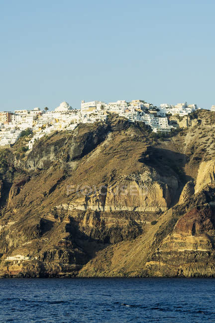 Grèce, Santorini, vue à Fira Caldera pendant dayitme — Photo de stock